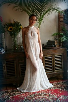 1157378ae Bridal Halter Nightgown Racer Back Wedding Lingerie Bridal Sleepwear Lace  Lingerie Lace Honeymoon Gown Sarafina Dreams 2017 Collection