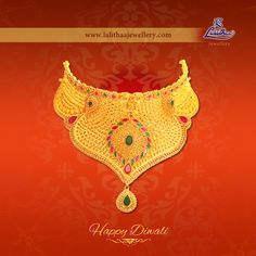 Let your life shine up brighter forever as the lights glow on this Diwali festival! Happy Diwali Wishes from #Lalithaajewellery.  Gold Fancy Necklaces Gold Necklace Sets Antique Fancy Necklaces Antique Necklace Sets Kolkata Fancy Necklaces Kerala Fancy Necklaces