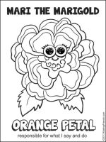 MakingFriends Girl Scout Daisy Orange Petal -- Mari the Marigold This flower friend reminds girls to be responsible for what they say and do.