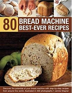 80 Bread Machine Best-Ever Recipes: Discover the Potential of Your Bread Machine. 80 Bread Machine Best-Ever Recipes: Discover the Potential of Your Bread Machine With Step-by-Step Recipes from A. Source by Bread Bun, Bread Cake, Bread Rolls, Bread Machine Recipes Healthy, Bread Maker Recipes, Bread Maker Pizza Dough, Breadmaker Bread Recipes, Ma Baker, Best Bread Machine