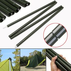 2x2m Camping Awning Tent Poles Rod Bar Outdoor Tool Aluminum Alloy Replacement