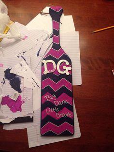Chevron themed DG paddle #sorority
