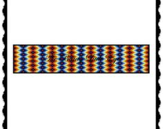 Bead Loom Pattern Seed Bead Loom Patterns Loom Bracelet Huichol Native American Southwestern Indian Geometric Watermelon Surprise Pattern