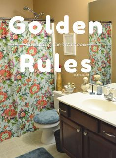 It is simple to CLEAN the BATHROOM when you follow these GOLDEN RULES at TidyMom.net