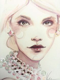 watercolor! fashion illustration! love!