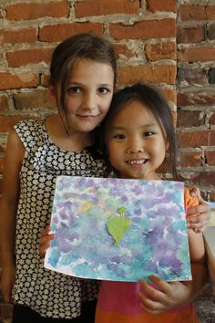 Making friends and presenting paintings at the Summer Creativity Camp 2015 at the Ann Arbor Art Center.