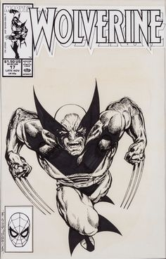 John Byrne Wolverine Cover Original Art (Marvel, John Byrne art on one of the characters most - Available at 2016 February 18 - 20 Comics &. Marvel Wolverine, Marvel Comics Art, Marvel Comic Books, Comic Movies, Comic Books Art, Black And White Artwork, John Byrne, Marvel Wallpaper, Marvel Entertainment