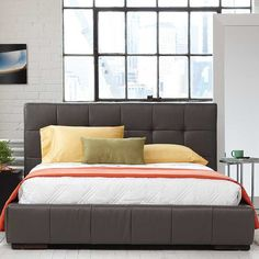 Kasala - Modern Leather Patform Bed | Furniture Stores Seattle