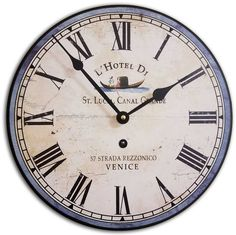 Antique Reproduction Hotel Wall Clock