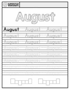 Students work on handwriting, and spelling with these free months of the year worksheets. January through December, a single sheet for each month, ensuring your student receives ample practice time. Free Handwriting Worksheets, Spelling Worksheets, Reading Worksheets, Learning To Write, Student Learning, March Month, December, Calendar Worksheets, Alphabet Writing Practice