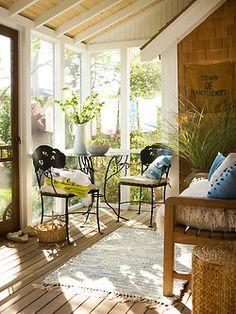 cute closed in porch