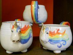 Elwood the Rainbow Unicorn. $38.00, via Etsy.