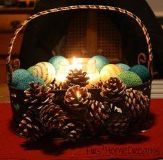 Non-traditional Christmas Centerpiece