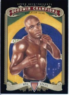 2012 Upper Deck Goodwin Champions Trading Card # 146 Anderson Silva