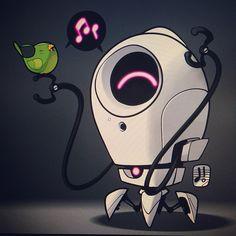 #marchofrobots 14-025 'Don't Worry Be Happy' by Dacosta! www.marchofrobots.com @Wacom #kickstarterproject