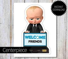 BOSS Baby Birthday Party PRINTABLE Large Centerpiece Instant