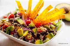 Tortilla Quinoa Salad with Cilantro Lime Dressing