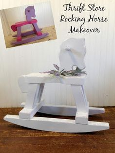Simply Country Life: Thrift Store Rocking Horse Shabby Makeover