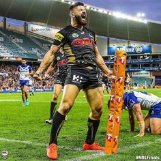 Footy Players: Josh Mansour of the Penrith Panthers Rugby League, Rugby Players, Rugby Workout, Penrith Panthers, Sports Mix, Australian Football, Rugby Men, Muscle Men, Sexy Men