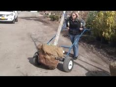 Unique new cart design doubles productivity at half the effort. From 32 inch any-shape tree balls to moving stone and pavers, the EZ tree-ball cart is a land. Farm Projects, Projects To Try, Porch Railing Kits, Stone Masonry, Outdoor Tools, Shade Trees, Tools And Equipment, Wheelbarrow, Lawn Mower