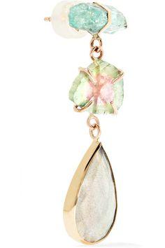 Melissa Joy Manning | 14-karat yellow and rose gold multi-stone earrings | NET-A-PORTER.COM