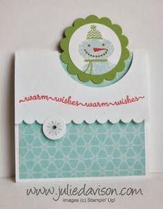 Julie's Stamping Spot -- Stampin' Up! Project Ideas by Julie Davison: VIDEO: Flap Fold Card Tutorial