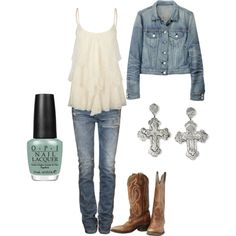 A little country, created by bailey-whip on Polyvore