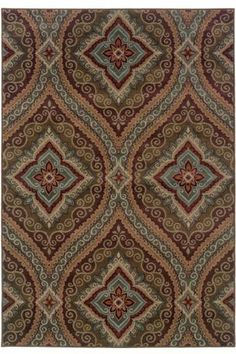 Paragon Area Rug, Synthetic (gray, green, tan, red), $429