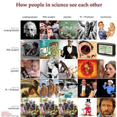 How scientists see each other
