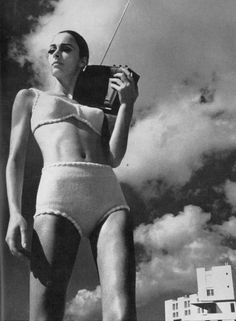 unknown model by helmut newton for vogue uk 1965