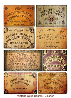 VINTAGE OUIJA BOARDS Digital Download Mini Boards by DigitalAlice