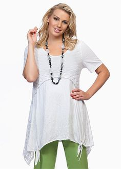 Plus Size Tops   Plus Size Evening Tops - BASIKS STACEY TUNIC - TS14