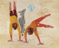 Boys Playing by Candido Portinari Social Art, Art Station, Boys Playing, Art Database, Figure Painting, Figurative Art, Art Google, Traditional Art, Illustrators