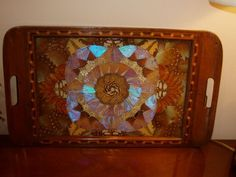Antique Tray Made with Real Butterflies | eBay
