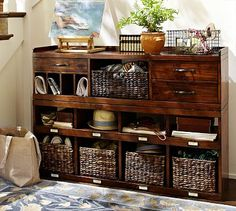 Olivia 2-Piece Bench & Organizer #potterybarn-for the front hall entry way
