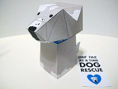 Foster Dog Paper Toy