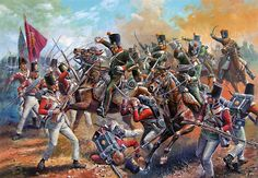 Charge of 13th Chasseurs à Cheval against British infantry in Spain-