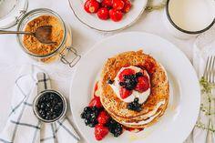 Špaldové lievance - ravita.sk Spelt Pancakes, Breakfast, Ethnic Recipes, Food, Basket, Morning Coffee, Essen, Meals, Yemek