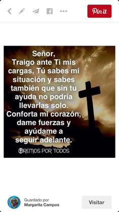 Señor ayúdame Catholic Prayers In Spanish, Bible Quotes, Motivational Quotes, Prayer Images, Prayer Board, Fact Quotes, Pretty Words, Spanish Quotes, Quotes About God