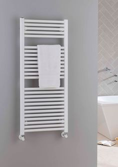 Heated Towel Rail In Polished Chrome Floor Mounted Made Several Sizes And Can Also Be Bespoke Various Fini Beautiful Bathroom Accessories