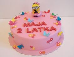 Torty Kraków Cukiernia Gateau Tort minionek dziewczyna #torty #tortykraków #kraków #cukiernia #gateau #cukierniagateau #urodziny #tortyurodzinowe #tortydladzieci