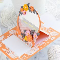 Spellbinders June 2019 Large Die of the Month is Here – Festive Wreath Slider Card. This die set features 21 dies that are perfect for creating seasonal slider pop-up cards and more! Fun Fold Cards, Pop Up Cards, Folded Cards, 3d Cards, Scrapbooking, Scrapbook Paper Crafts, Scrapbook Layouts, Paper Crafting, Album