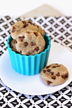 Mini Chocolate Chip Cookies Gluten Free - Check out more delightful, gluten free dessert recipes at All-Desserts.com!