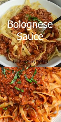 Rich Bolognese Sauce is perfect to serve over pasta. Bolognese Sauce is a meat based Italian sauce made with vegetables, wine, milk, beef and pork. Easy Bolognese Sauce Recipe, Classic Bolognese Recipe, Best Bolognese Sauce, Slow Cooker Bolognese Sauce, Spagetti Bolognese Recipe, Bolognese Pasta, Yummy Pasta Recipes, Beef Recipes For Dinner, Italian Crockpot Recipes
