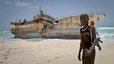 Pirate and booty, Somalia