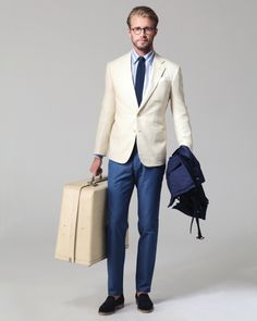 The suitcase is maybe a little bit too big for the office, but the style is cool!