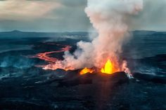 You can watch a livecam of the volcano here. Warning: It's quite smoky. | A Volcano Has Erupted In Iceland, And The Pictures Are Stunning