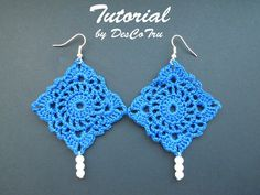 Crochet Earrings with Beads Tutorial – Do It Yourself - Make your own earrings – Crochet earrings pattern under 5 - Gift for her Crochet Earrings Tutorial Do you know how to crochet? Crochet Earrings Pattern, Crochet Patterns, Earring Tutorial, Beads Tutorial, Handmade Beaded Jewelry, Unique Jewelry, Diy Jewelry, Make Your Own Jewelry, Thread Crochet