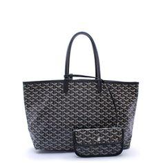 Goyard Classic St Louis MM Tote Handbag Black $850.00