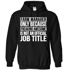Farm Manager - #gifts for guys #food gift. WANT  => https://www.sunfrog.com/No-Category/Farm-Manager-9762-Black-Hoodie.html?id=60505